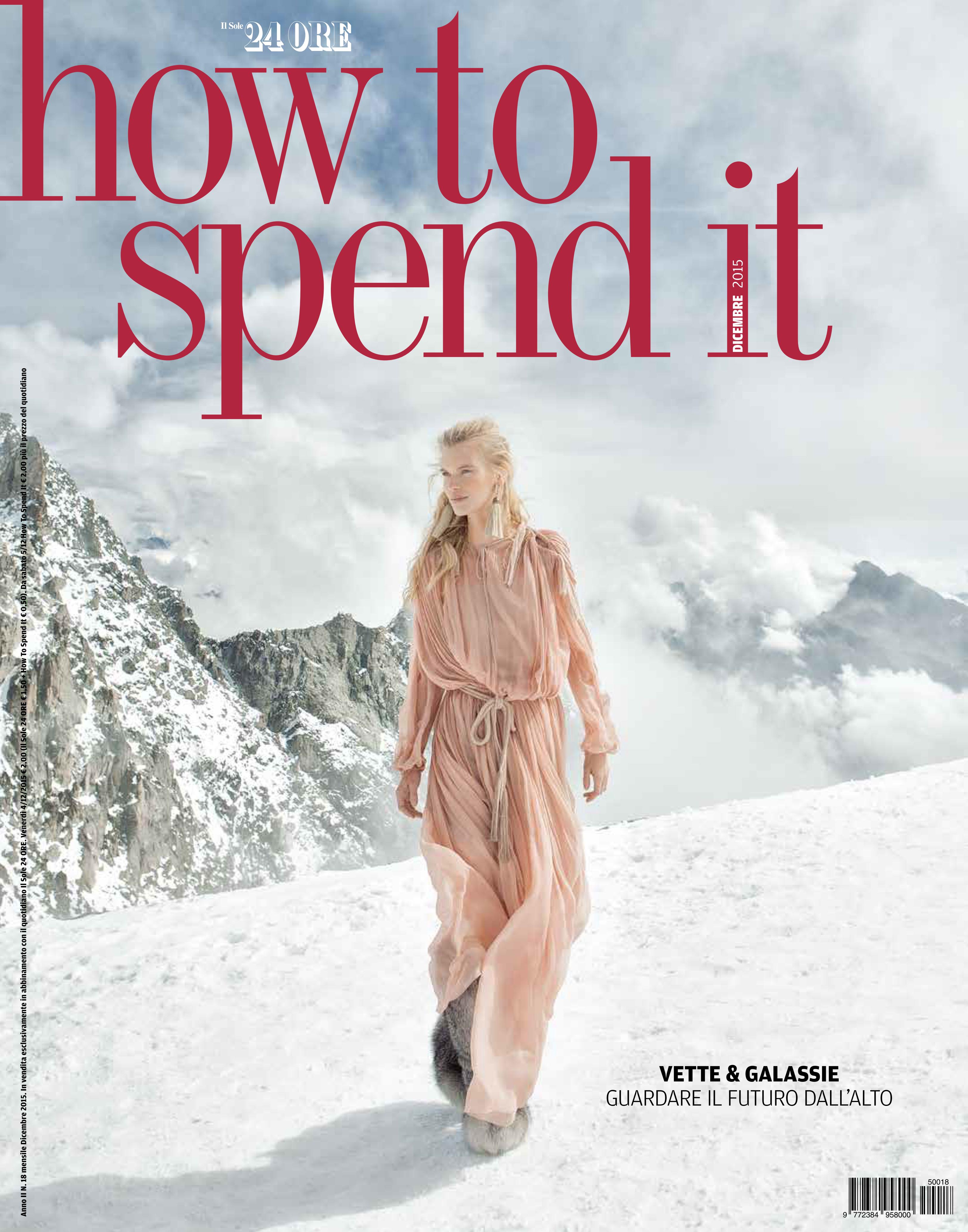 How to Spend it – Il Sole 24 Ore, dicembre 2015
